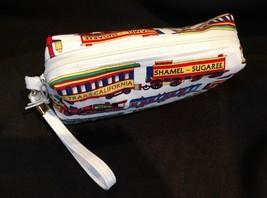 Clutch Bag/Wristlet/Makeup Bag - Trains, locomotive image 3
