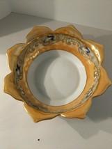 "Noritake Hand Painted Moriage Design Lusterware Glaze 6"" Bowl Petal Shaped Rim - $19.75"