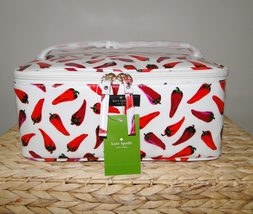 Kate Spade Large Colin Daycation Hot Peppers Cosmetic 2pc Case image 2