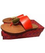 Tory Burch Patos Disc Flat Thongs Sandals Slide Mules  Flip Flop 7 Shoes... - $135.00