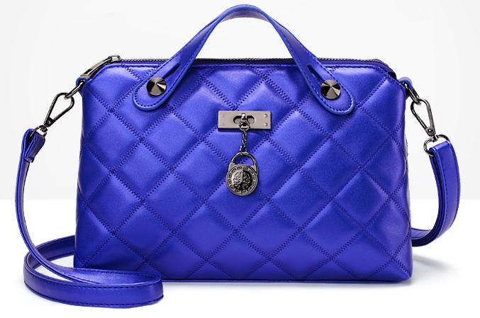 Women Medium Sheepskin Shoulder Bags Fashion Tote Bags 4 Color Messenger D421-1