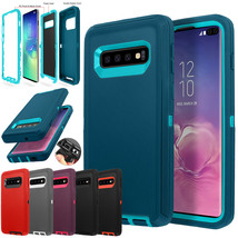 Samsung Galaxy S10+ S10e Case Shockproof Hybrid Rubber Heavy Armor Rugge... - $21.60