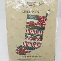 Something Special Candamar Christmas Stocking Needlepoint Kit Teddy Bear... - $38.65