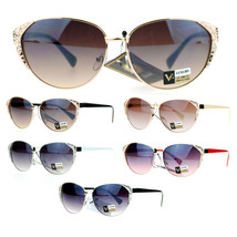 VG Eyewear Womens Rhinestone Jewel Bling Iced Out Cat Eye Diva Sunglasses - $10.95