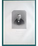 PETER HITCHCOCK Ohio Chief Justice - 1883 Antique Portrait Print - $19.80