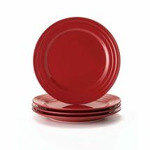 Rachael Ray Dinnerware Double Ridge 4-Piece Stoneware Dinner Plate Set 1... - $26.53