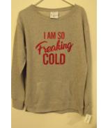 Womens J America NWT Gray Metallic Long Sleeve Crewneck Sweatshirt Size L - $29.95