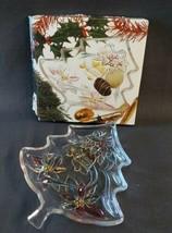 "Mikasa Holiday Spirit Christmas Tree Server Dish WY064/502 Japan 7 1/2"" Boxed - $12.86"