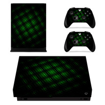 Tech wallpaper Decal Xbox one X Skin for Xbox Console & 2 Controllers - $15.00