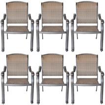 6 outdoor dining chairs Santa Clara cast aluminum powder coated patio furniture. image 1