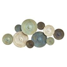 Stratton Home Decor S07662 Asheville Textured Plates Wall Decor, Multicolor - $87.48