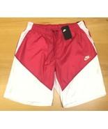 Men's Nike Air Sportswear Windrunner Track Shorts White/Pink Size Large - $41.13