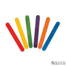 Rainbow-colored Craft Sticks  - $11.49
