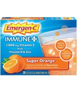Emergen-C Immune+ Vitamin C 1000mg Powder, Plus Vitamin D And Zinc, 30 C... - $28.71