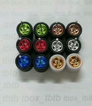 HOT WHEELS STAR REAL RIDERS RUBBER WHEEL MIX COLOUR 10MM 6 SETS 1/64 JDM... - $19.90