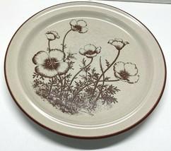 """Noritake Stoneware Desert Flowers Dinner Plate 8341 Mexican Poppy 10 1/2"""" - $13.95"""