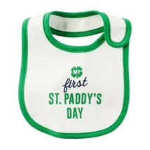 St. Paddy's Day Bib Baby St. Patricks Day Carters My First Green & White - $7.92