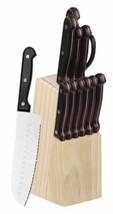 Home Basics 13 Piece Knife Set with Block, Black - KS44844 - $31.18