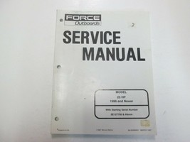 1996 & newer force engines 25 hp service manual repair stained - $21.80