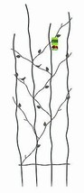"""Nature Metal Trellis 24""""Wx72""""H Attractive Build Durable Strong Welded St... - $152.25"""