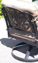 Outdoor conversation set fire pit propane deep seating Elisabeth 5pc aluminum. image 7