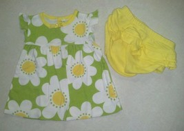 NWOT Girl's 9 Months 2 Piece Green W/ White Flower 2 Piece Outfit Carter... - $7.50