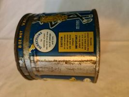 VINTAGE 1938 PLANTERS MR. PEANUT COCKTAIL PEANUTS ADVERTISING EMPTY 8 OZ CAN image 3