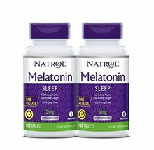 Natrol Melatonin Time Release Tablets, 5mg, 100 Count (Pack of 2) - $29.26