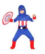 Halloween Captain America Party Onesies Kid Cosplay Costume Child Gift - $27.50