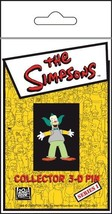 The Simpsons TV Show Krusty Figure 3-D Rubberized Pin, NEW UNUSED - $7.84