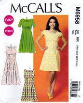 McCall's M6958 Womens Petite Dresses Easy Sewing Pattern Sizes 18W-20W-22W-24W - $11.25