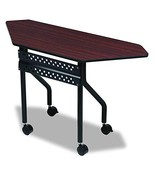 Iceberg ICE68078 OfficeWorks Trapezoid Mobile Training Table with Black ... - $248.95