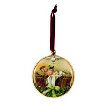 TBD OWI Christmas Decor - Baby Jesus In Manger Disc Ornament - $13.81