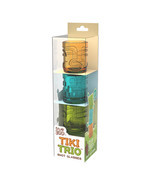 Tiki Trio Shot Glasses in Assorted Colors by Tr... - $12.99