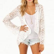 ZANZEA Women Summer Lace Blouse Long Sleeve Short Open Front Cardigan Ca... - $32.10