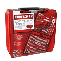 Craftsman 100 Piece Drill Bit Accessory Kit w/ Carrying Case - $24.86