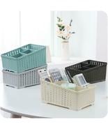 Desktop Plastic Rattan Storage Basket Bathroom Cosmetic Jewelry Sundries... - $11.01+