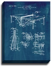 Table Tennis or Ping Pong Table Patent Print Midnight Blue on Canvas - $39.95+