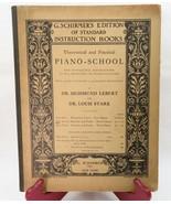 Schirmer's ANTIQUE vintage THEORETICAL PIANO SCHOOL LEBERT & STARK BOOK ... - $50.00