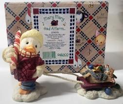 "Enesco Mary Mary Had A Farm #274070 1997 ""You Duckorate My Life"" Duck With Sled  - $22.49"