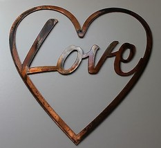 "LOVE in Heart Metal Wall Art Decor 10"" x 10"" - $16.82"
