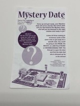 Classic Mystery Date 2005 Instructions Rules Replacement Part Board Game - $6.88