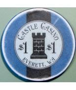 $1 Casino Chip. Castle, Everett, WA. V72. - $4.29