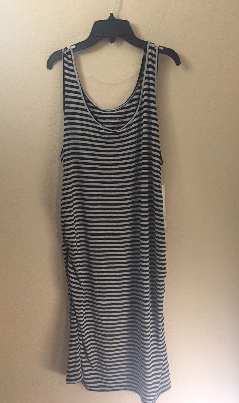 eaeb644d18561 Liz Lange Maternity Tank Bodycon Ruched Dress XS S M L Extra Large XXL NWT