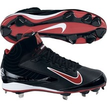 BRAND NEW NIKE HUARACHE STRIKE 615965-061 BLACK/RED SIZE 11.5 MENS CLEAT... - $39.59