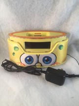 Nickelodeon Spongebob Squarepants  ALARM CLOCK RADIO Iphone  IPOD Dock &... - $23.36