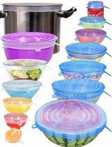 longzon Silicone Stretch Lids Set of 14, Includes 2 XXL Sizes image 1
