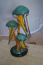 "Three Jellyfish Bronze Statue -  Size: 12""L x 10""W x 22""H. - $935.00"