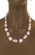 Elegant Rose Hellrosa Lampwork Venezianische Stil Perlen Täglich Freizeit Kette - $17.49