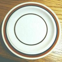 1981 homer laughlin ironstone blue brown stripe salad plates - $20.78